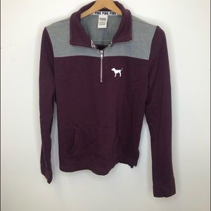 Victoria Secret Pull Over 1/4 Zip Sweatshirt Med